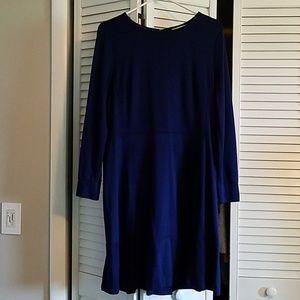 Loft Navy Blue Long Sleeve Dress Size 12